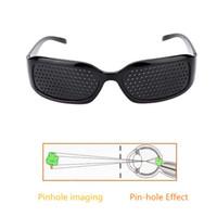 ingrosso occhio nero perno-Occhiali da sole Pinhole neri Anti-fatica Vision Care Pin Hole Microporous Glasses Eye Exercise Vista Migliora l'anti-miopia