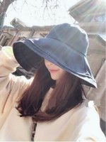 Wholesale free han resale online - Fisherman s hat woman xia han version of the sun hat sunshade sunscreen uv protection soft sister literary hat summer