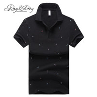 Wholesale polo blue for sale - Davydaisy High Quality Polo Shirt Men Summer Short Sleeve Slim Fit Sailboat Print Polo Men Shirt Brand Casual Tops Tees Dts