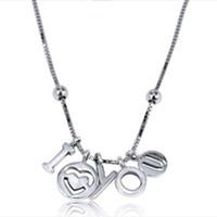 collar de joyas del día de san valentín al por mayor-Mujer Moda 925 Cadena de plata esterlina Día de San Valentín TE AMO colgante Collar de Langosta Europea Joyería PrPNC8 baja