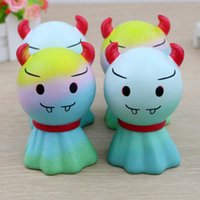 Wholesale Toy Demon - Fine Day Demon Doll Colorful Decompression Toy Squishy Slow Rising Cute Devil Fun Kids Toy Gift NNA68