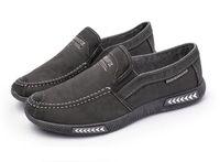 Wholesale men pedal shoes - New men's casual canvas shoes a pedal breathable low shoes soft bottom casual shoes
