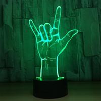 meilleur led voyants achat en gros de-Acrylique Illusion Lumière Panneau Acrylique 7 Couleur Meilleur Cadeau Nuit LED lampe Bureau Table Éclairage Décoration