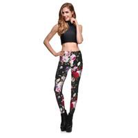 ingrosso collant da ballo di yoga-2017 Nuovo stampato Leggings Yoga Pantaloni Donna a vita alta Fitness collant anti-sudore Plus Size Workout Dance Sport Leggings
