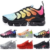Wholesale sneakers for cheap online - Original NEW TN Plus Mens For Cheap TN Plus White Black Blue Basketball Running Shoes Requin Chaussures Designer Sneakers For Sale