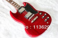 Wholesale sg double - Factory wholesale Electric Guitar, White,Double Cut Way, SG Wine Red free shipping