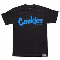 camisa menta al por mayor-Galletas SF Berner Men's Thin Mint Camiseta Black Blue Tee Clothing Apparel