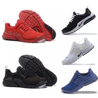 Wholesale Fine Fabrics - Original 2017 Air Presto Running Shoes Fine Mesh Breathable Air Presto Blackout Cheap Sneaker Red Navy Blue Triple White Black Fall Olive