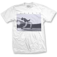 novidade dos tipos camiseta venda por atacado-Rainha Freddie Mercury Uivo T-shirt-Branco Hip Hop Novidade Camisetas Homens Marca de Roupas Top Tee Verão 2017 100% Algodão