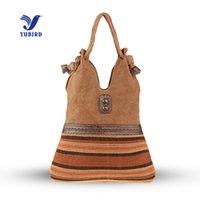 b1123da18 YUBIRD Bolso de Hombro de Gran Capacidad de Las Mujeres Bolso de la Lona de  Mano Ocasional Mujer Tejer de Tela de Viaje bolso grande tela sac tissu