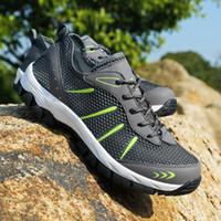Wholesale big fish sandals resale online - Men Outdoor fishing Breathable Hiking Shoes Big Size Men Hiking Sandals New Men Trekking Trail Water Sandals