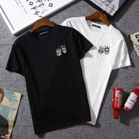 Wholesale family goods - Good quality New Hot Fashion Sale Brand Cloth family Print Cotton men Women t-shirt 2XL white 809