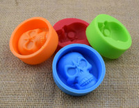 Wholesale Silicone Mould For Cupcake - Creative Skull Head Silicone Mold for Cake Chocolate Cookies Baking Moulds Cupcake Kitchen Craft Tool Bakeware Pastry Tools 300pcs
