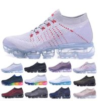 Wholesale Outdoor Floor Lights - Newest Vapormaxes 2018 Running Shoes For Men Casual Sneakers Women Outdoor Sport Shoes Vapor Maxes Shock Athletic Jogging Hiking Shoes 36-45