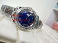 ingrosso braccialetto diamante blu zaffiro-orologio da uomo di alta qualità 41MM 126334 blu orologio da uomo automatico con cinturino in acciaio inossidabile con quadrante in vetro zaffiro e diamanti