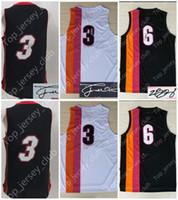 Wholesale Red Man Sign - 2017 Old Version MIA City Basketball Jersey Men Women Youth, Signed Retro Kids 3 DW 6 LBJ Rainbow Iridescence