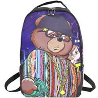 bolsas refresca deportes al por mayor-Biggie bear mochila Sprayground mochila escolar fresca Mochila de calle Mochila con suelo pulverizador Mochila deportiva Mochila deportiva al aire libre