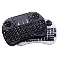 kontrol tabletleri toptan satış-Mini Kablosuz Klavye Rii i8 2.4 GHz Hava Fare Klavye Android Box TV 3D Oyun Için Uzaktan Kumanda Touchpad Tablet Pc