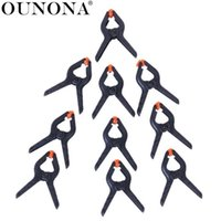 заставки для фона оптовых-OUNONA 16pcs 45mm Photo Studio Canvas Muslin Paper Backdrop Clamps Clips (Black+Orange)