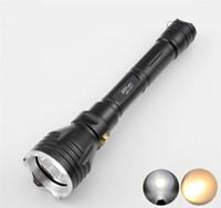 lanterna tática amarela venda por atacado-8000Lm XM-L2 Tactical Lanterna Poderosa Mergulho À Prova D 'Água Subaquática LED Mergulho Lanterna Tocha Flash Lamp Yellow / White Light