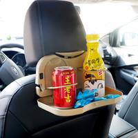 ingrosso titolari di tazze di bevande calde-Vendita calda auto pieghevole tavolo auto portabicchieri Auto Posteriore Supporto da tavolo Stand Desk Auto Drink Food Cup Vassoio