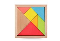 yapboz ahşap tangram toptan satış-Mini Tangram Ahşap Oyuncaklar Çocuk Çocuk Eğitim Tangram Şekli Ahşap Bulmaca Oyuncak Marka FT Blokları DHL Ücretsiz