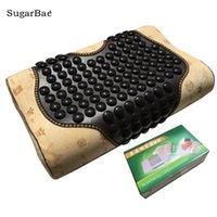 Wholesale therapy beds for sale - Group buy Therapy Jade Pillow Neck Massager Traction Bed Pillow Health Care Pillow Body Care With Box Package