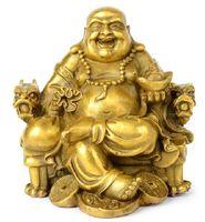 ingrosso sculture di buddha-Fengshui Decor Statue di Buddha per la decorazione domestica, Statue di Buddha che ridono, Statuetta di Maitreya, Sculture buddiste per la felicità di buona fortuna