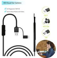 endoskop 7m groihandel-USB Multifunktionale Earpick mit Mini-Kamera-Kugelschreiber HD Visual Ohr-Reinigungs-Tool Ohr-Löffel-Ohrenpflege In-Ear-Reinigung Endoskop Neu