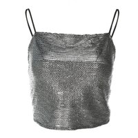 ingrosso bustier in pelle donna-Summer Black Sexy PU Leather Crop Top Donna Boob Tube Top Tank Short Night Club Party Bustier Ladies Canotta ritagliata