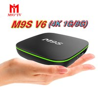 android tv mx2 großhandel-Fabrik-Verkauf Soem MX2 M9S V6 neues MXQ PRO 4K RK3229 Viererkabel-Kern Android 7.1 Fernsehkasten mit kundengebundenem 4K Medien-Spieler