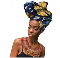 bufanda de varios colores al por mayor-Multi-color con perlas de belleza africana headtie para mujeres African Women Headwraps Hight calidad de algodón Head Scarf 50 * 180CM