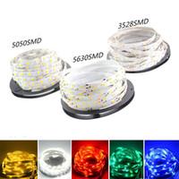 enfriador de tiras de led al por mayor-Super Brillante 5m 5630 5050 3528 SMD 60led / m LED Strip Light Impermeable Flexiable 300LED Cool / Pure / Warm Blanco / Rojo / Azul / Verde 12V
