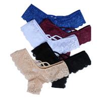 underwear novo da corda para mulheres venda por atacado-New Sexy Lace mulheres calcinha fio dental Boa Elastic Underwear Mulheres Mini G-corda G corda V de Volta Tiras Calça Brasileira 3XL 2XL XL-S