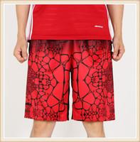 erkekler için kapris şortları toptan satış-Toptan Ücretsiz Kargo Erkekler kapriler diz boyu spor gevşek şort baskı yaz koşu pantolon artı boyutu 4XL