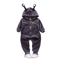 survêtement de survêtement pour fille achat en gros de-Printemps Automne Infantile Enfants Garçons Filles Vêtements de Bande Dessinée Ensembles Bébé Mode Hoodies Pantalon 2 Pcs / ensembles Velvet Toddler Survêtements