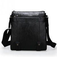 One-shoulder Business Work Men Bags Travel Casual Bags PU Leather Messenger  Handbags 64b87b98a2d4d