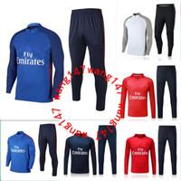 Wholesale Blue Paris - 2017 2018 NEYMAR JR paris jacket Sweater MBAPPE soccer chandal football tracksuit adult training suit skinny pants Sports JACKET