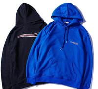 kış için kazak toptan satış-Erkek Giyim Homme Kapüşonlu Tişörtü Erkek Kadın Marka Tasarımcısı Hoodies High Street Supremo Baskı Hoodies Kazak Kış Tişörtü