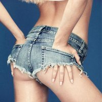 Wholesale Hot Girls Sexy American - Summer Europe and America Style Spice Girls Sexy Nightclubs Hot Jeans Women's Casual Frayed Hole Super Shorts Denim