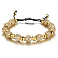 ingrosso branelli dei monili del rhinestone-Nuove sfere del Rhinestone Bracciali catena per il cristallo borda il braccialetto Femme donne monili di lusso regalo Pulseras Mujer Moda