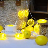 luzes ao ar livre para varanda venda por atacado-Novo Estilo Decoração Do Partido 3 M Forma de Limão 20 LED Bateria Piscando Luzes Da Corda Ao Ar Livre Varanda Quarto Festival Decor Luzes