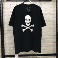 cráneos de la ropa de las mujeres al por mayor-Mens Fashion Brand Designer Camisetas VLONE Skull Print Tees Hombres High Street Esqueleto suelto Camisetas Amigos V Tees Tops Ropa para hombre