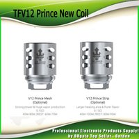 Wholesale New Replacement Heads - Original TFV12 Prince New Coil Head Strip Mesh 0.15ohm Replacement Coils Core For TFV12 Prince Tank 100% Authentic