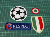 Wholesale champions league patches resale online - Champions League Italia Calcio patch Ju ven tus red coppa Italia Circle Scudetto patch Scudetto Italy Cup patch