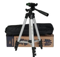 Wholesale fuji camera wholesale online - WEIFENG WT A Sections Portable Universal Lightweight Standing Tripod for Fuji Canon Sony Nikon Camera With phone holder