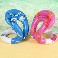 Wholesale children's rings online - Children adult water toy swimming laps inflatable swim U armpit floating rings pool toys kids safety trainer swimming aid toys