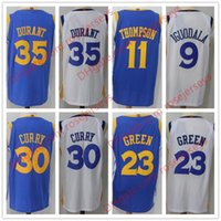 Wholesale Chinese Yellow - cheap Basketball 30 Curry 35 Durant 11 Thompson 9 Iguodala 23 Green Royal Blue White Black Stitched Chinese Heritage Yellow Jerseys S-2XL