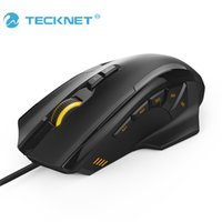 Wholesale Computer Button Switch - Wholesale-TeckNet 4D Laser Gaming Mouse with 16400 DPI 12 Button Tuning Cartridge Micro Switches For Computer PC Laptop desktop LOL game