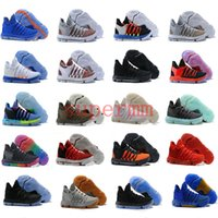 Wholesale Blue Label - KD 10 Oreo Still KD Anniversary Black Green Basketball Shoes Sneakers KD10 Men Shoes Sport Kevin Durant 10 Trainers 8-13